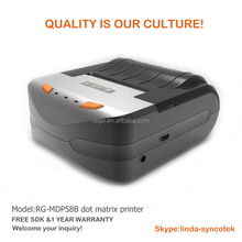 Black and white portable photo printer dot matrix bluetooth receipt android printer RG-MDP58B
