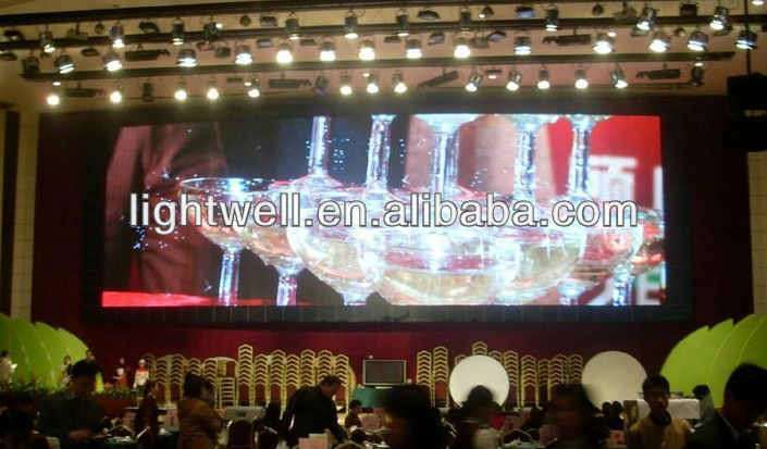 Full set video effect p6 indoor full color led display screen,multi color rental led display p6