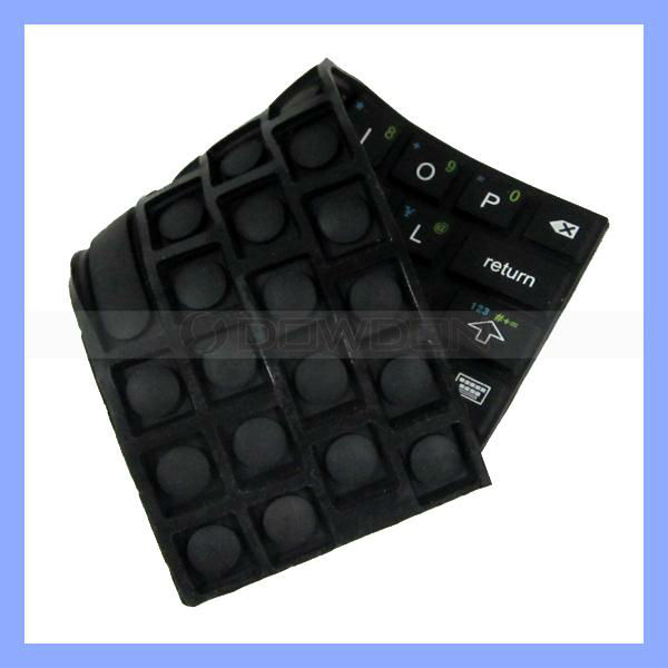 Soft keyboard for iPad MINI Stick-on Silicone Rubber Keyboard