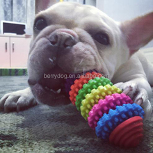TPR Rubber Rainbow Mixed Color Rotary Gear Design Hot Pet Dog Cat Toys