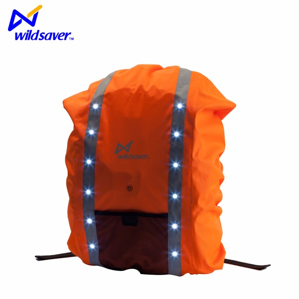 Factory supply LED safety waterproof travelling backpack cover