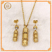 Fine Quality High Fashion Ladies Imitation Gold Plated Jewellery Sets