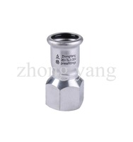 ITC 304 stainless steel press fittig female adapter