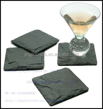 home decor most daily used black slate coaster