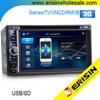 "Erisin ES890G 6.2"" HD Touch Screen 2 Din Universal Car DVD GPS with Rear View Camera"