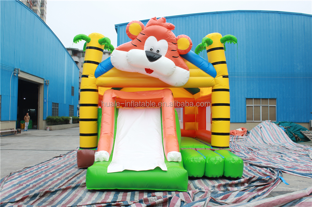 Inflatable Bouncer Castle House With Slide For Children Sale