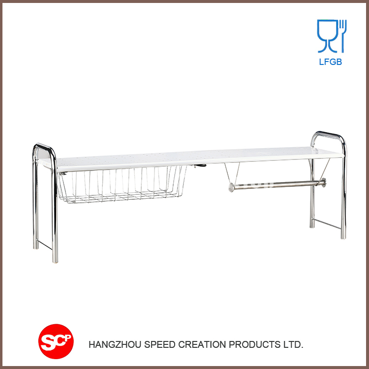 Best quality low price adjustable kitchen sink drain and frame / fruit stands / dish rack