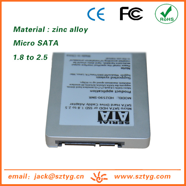 ES-2590-SMR Reasonable Price 1.8 inch Micro Sata SSD Hard Disk to 2.5 inch Sata Hard Disk