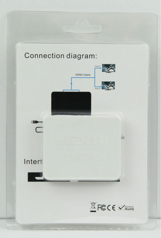 3D 2 port usb splitter hdmi 1.4