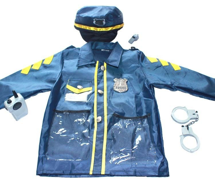 7000952-Halloween Police Officer Role Play Costume Set Cosplay Wear Clothing