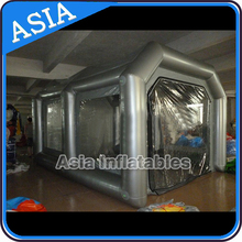 Mobile inflatable paint tent for car repair, Car cover and storage tent inflatable garage