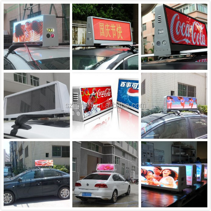 12V Power Supply Car Top LED Sign P5 Outdoor Waterproof LED Taxi Top LED Panel Display Full Color