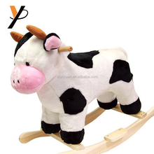 ASTM Safety Approved cow ride on toy baby plush rocking animal