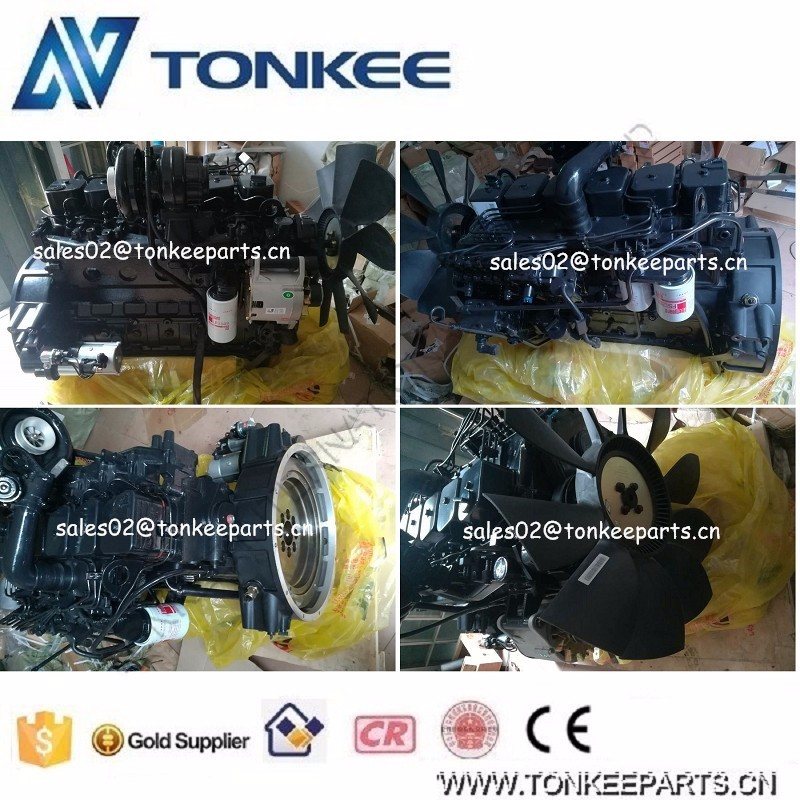 6BT5.9-C130 Engine assy & Complete engine assy for wheel loader CDM835E, 6BT5.9-C130 Complete engine assy