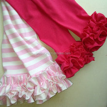 2015 Hot Sale Kids Ruffle Pants Baby Toddler Clothes Girls Triple Ruffle Pants Wholesale