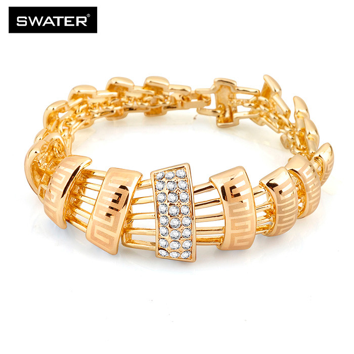 Women Wedding Rhinestone Design 18k Gold Necklace Set Jewelry,Statement Crystal Necklace For Women