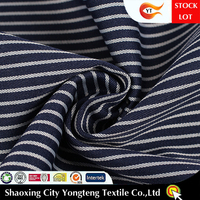 STOCKLOT white black stripe fabric for shirt&office uniform