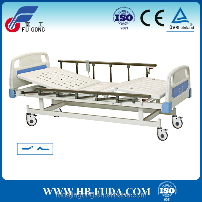 2 functions electric and manual hospital bed nursing home electric bed