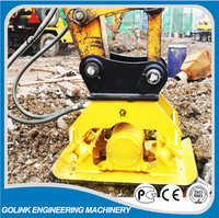 Concrete plate hydraulic compactor for excavator