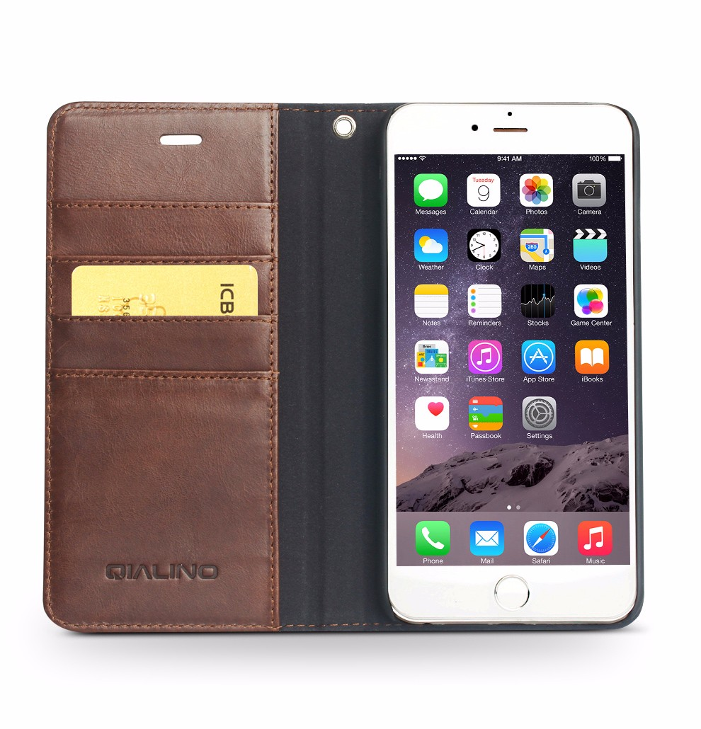 QIALINO Best Hand Maded Cow Leather Otterboxing Case For Iphone6