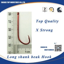 HOOK PRODUCTION high quality black nickle fishing tackle Long shank beak hook wholesale