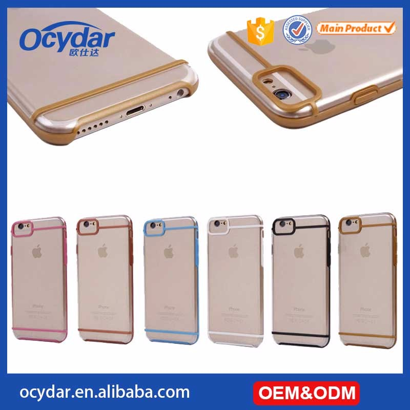 2 in 1 clear TPU case for iphone 7