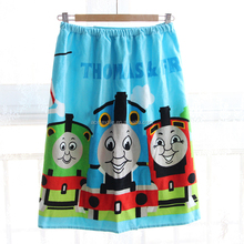 100% velour cotton soft and cute cartoon design kids swim towel skirt