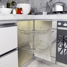 Stainless steel pull out wire drawer,cabinet kitchen corner revolving basket