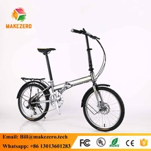20 inch 7 speed mini folding bike with double disc brake and aluminum rim for kids