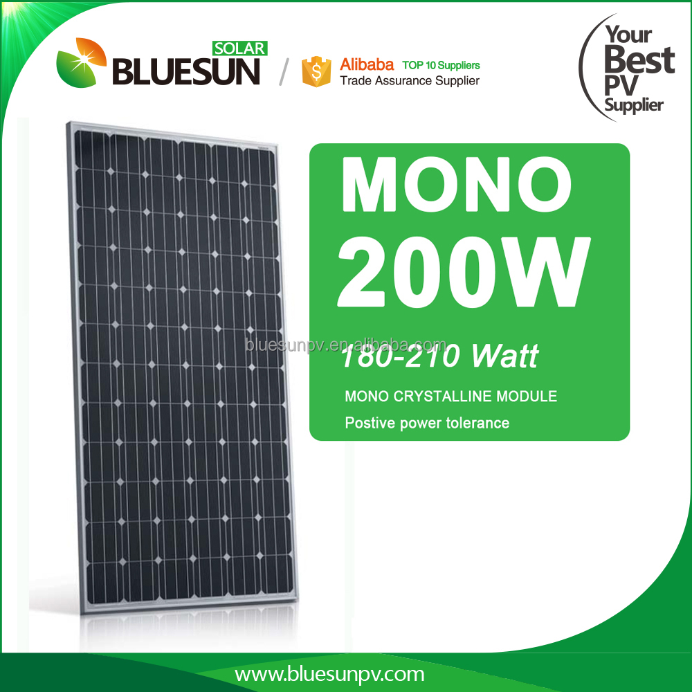 China 2016 Newest mono solar panel 200w pv solar power complete systems
