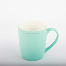 Popular soft touch silicone coating matt ceramic mug cup