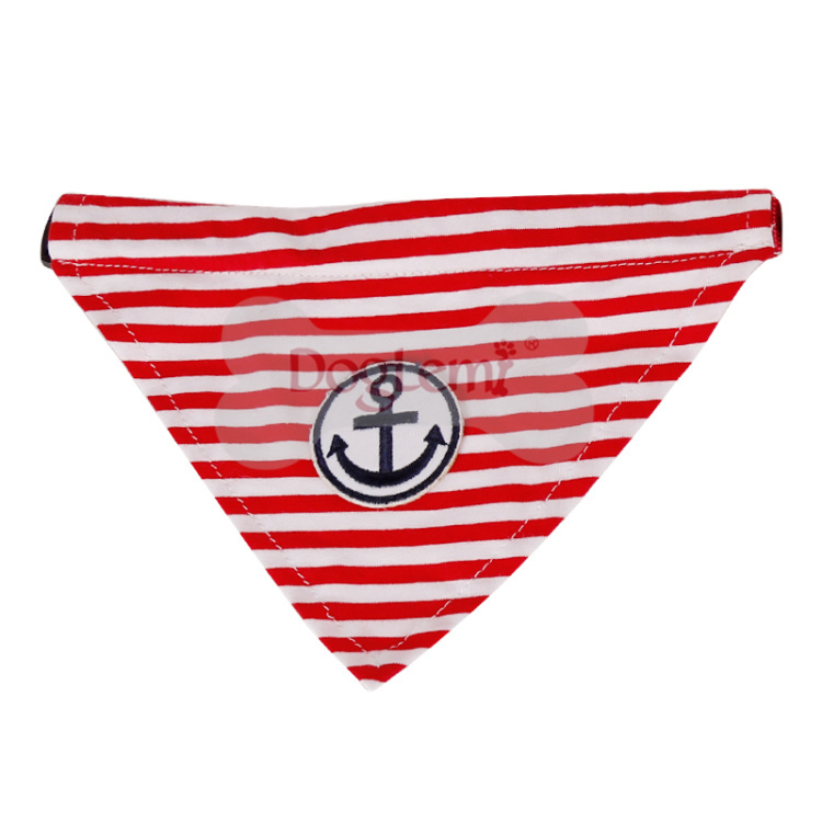 wholesale dog bandana Anchor Stripe Cotton Dog Puppy Bandana dog Scarf