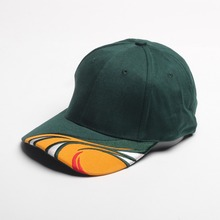 Fast delivery Accept paypal breathable green custom embroidery printed logo cotton baseball cap/hats