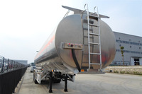 Triaxle aluminum alloy fuel tanker semitrailer capacity 49m3 with good price for sale 008615826750255 (Whatsapp)