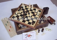 wooden board game box 7 IN 1 game box