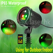 Outdoor waterproof starry twinkling star Christmas laser light Garden Tree light with RF Wireless remote control