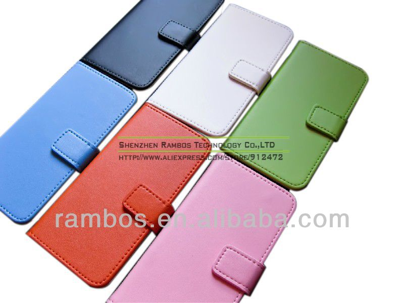 Housse Etui Coque Genuine Leather Flip Cover Credit Card Holder Wallet Mobile Phone Case for iPhone 5C