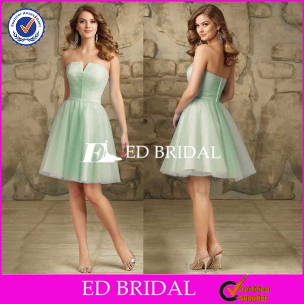 New Arrival Knee Length Tulle Cheap Bridesmaid Dress Patterns
