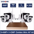 4.0MP CCTV 4ch wireless security NVR kit with ip waterproof camera