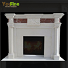Elegant Natural Indoor Used White Marble Fireplace For Sale