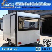 best quality mobile hot dog food cart mobile engine food car with wheel fast food kiosk