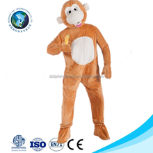 2016 New product cheap halloween plush monkey adult costume fashion custom cartoon mascot costume