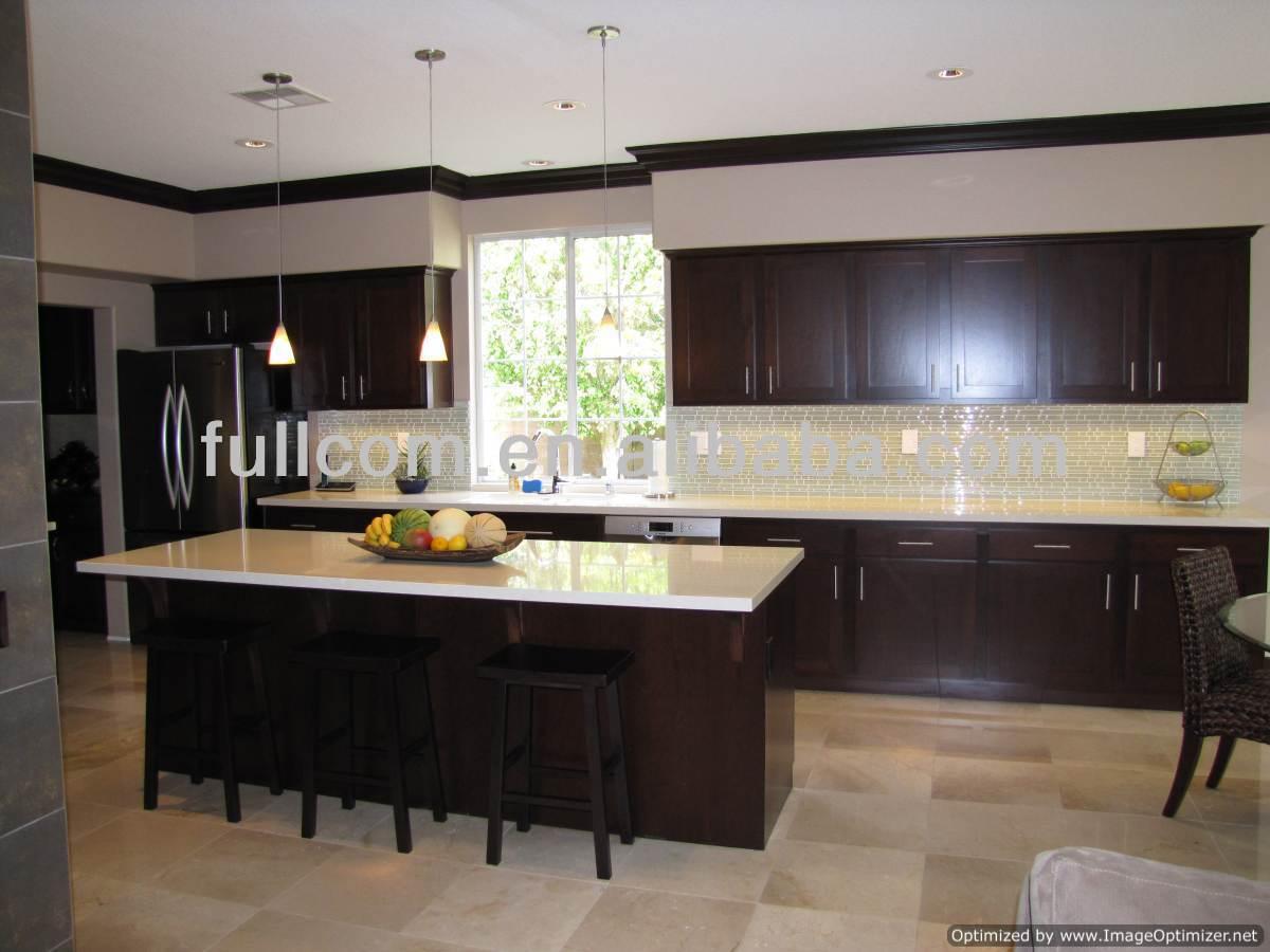espresso cocina de madera sólida del gabinete de la puerta-Cocinas ...
