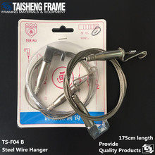 tsf04b newly ceiling steel wire hanger picture frame soft stainless wire hanging rope
