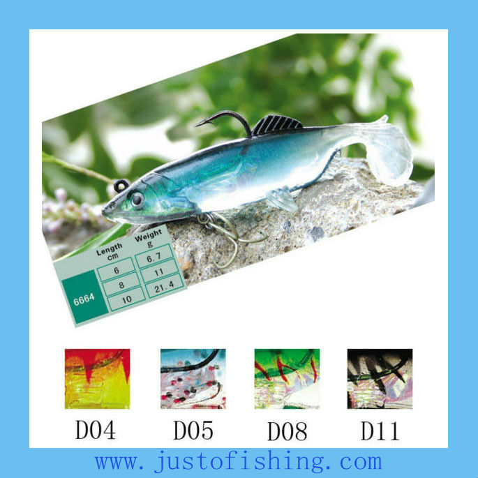 9+ years wholesaler Hirun fishing lures top quality 3D eyes soft saltwater soft plastic fishing lures 6664