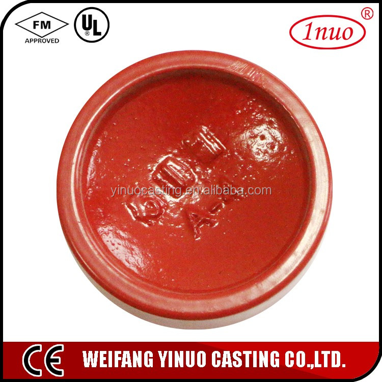 China mde grooved conduit end cap female end cap