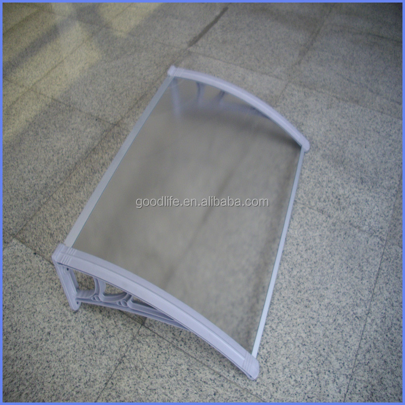 block out rain and sun plastic support canopy with wind pressure tests