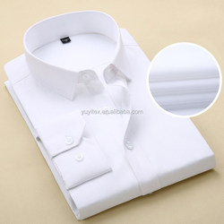 High Quality turndown collar white regular business solid color official no pocket slim fit man long sleeve dress Shirt