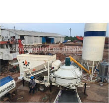 MB Hot sell mobile concrete batching plant with PLC