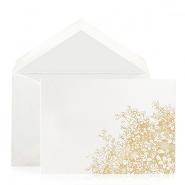 custom wedding thank you note envelope and card